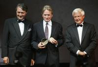 Michael Douglas, Deauville Philippe Augier and Lionel Chouchan at the 33rd Deauville Film Festival premiere of