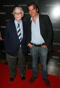 Dominic Dunne and Griffin Dunne at the premiere of