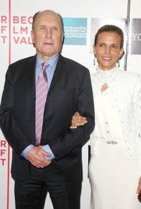 Robert Duvall and his wife Luciana Pedraza at the Tribeca Film Festival premiere of