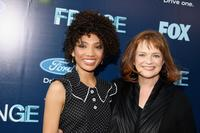 Jasika Nicole and Blair Brown at the series premiere party of