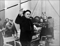 Federico Fellini as hes directs the movie