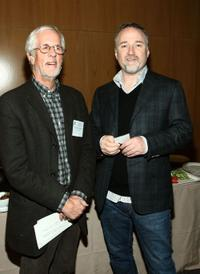 Michael Apted and David Fincher at the DGA (Director's Guild of America) Awards Meet The Nominees.