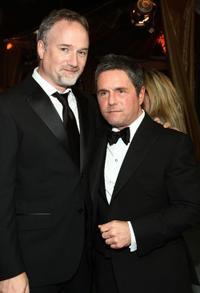David Fincher and Brad Grey at the premiere of