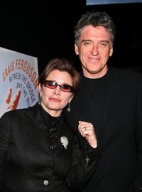 Carrie Fisher and Craig Ferguson at the launch party of Between The Bridge and the River.