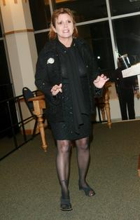 Carrie Fisher at Barnes & Noble to promote her new book Best Awful There Is.