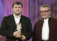 Milos Forman and Alexei Mizgirev at the 7th International Film Festival.
