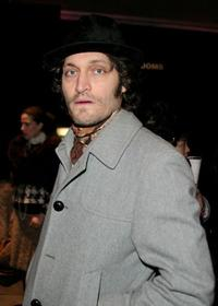 Vincent Gallo at the 2004 Olympus Fashion Week.