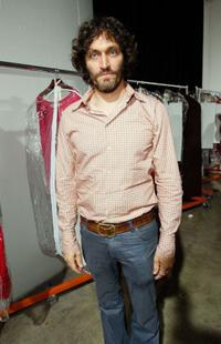 Vincent Gallo at the Mercedes-Benz Fashion Week.