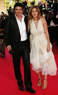 Patrick Bruel and Amanda Stern at the premiere of