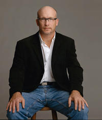 Director Alex Gibney on the set of