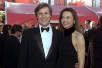 Lasse Hallstrom and Lena Olin at the Academy Awards in Los Angeles.