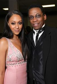 Tia Mowry and Herbie Hancock at the 39th NAACP Image Awards.