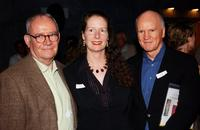 Buck Henry, Jennifer Kellen and Doug Chrismas at the Santa Monica Museum of Arts Party.