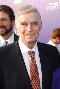Charlton Heston at the 2002 World Stunt Awards held at Barker Hanger in Santa Monica.