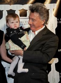 Dustin Hoffman and his granddaughter Daisy Jo at the Lisa Hoffman Night And Day 24 Hour Skincare Launch.