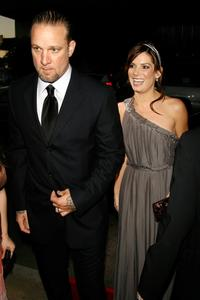 Sandra Bullock and Jesse James at the premiere of
