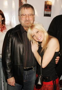Tobe Hooper and Courtney Peldon at the Launch party for