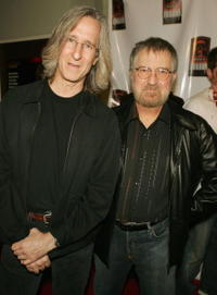 Mick Garris and Tobe Hooper at the party to celebrate Showtime's series