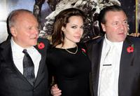 Anthony Hopkins, Angelina Jolie and Ray Winstone at the London premiere of