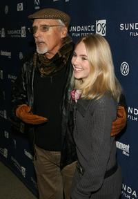 Dennis Hopper and AnnaSophia Robbat at the premiere of