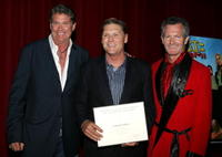 David Hasslehoff, Norman Howell and Ted Barba at the Academy of Television Arts and Sciences and the Stunts Peer Group Emmy Nominee party for stunt coordination.