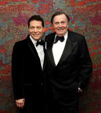 Michael Feinstein and Barry Humphries at the opening night party for