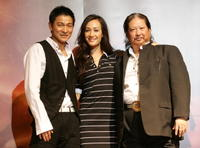 Sammo Hung, Andy Lau and Maggie Quigley at the Pusan International Film Festival for