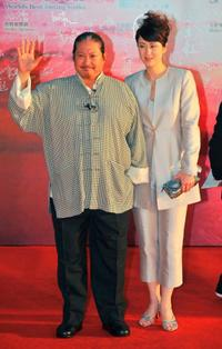 Sammo Hung and Joyce Mina Godenzi at the 28th Hong Kong Film Awards 2009.
