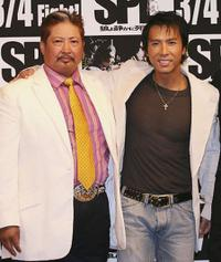 Sammo Hung and Donnie Yen at the press conference of
