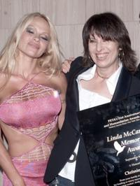 Pamela Anderson and Chrissie Hynde at the PETA 21st Anniversary party.