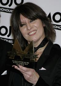 Chrissie Hynde at the MOJO Honours List awards.