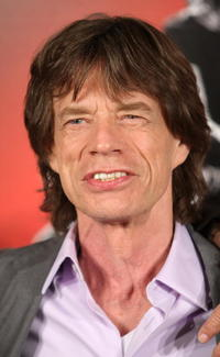 Mick Jagger at the press conference for