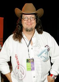Penn Jillette at the Bailey display in the Distinctive Assets gift lounge during the Academy of Country Music Awards.