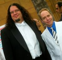 Penn Jillette and Teller at the Los Angeles premiere of
