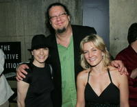 Bebe Neuwirth, Penn Jillette and Amy Carlson at the after party of the premiere of