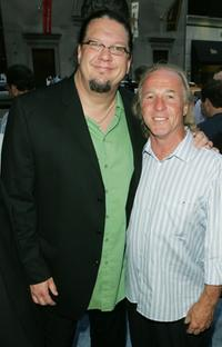 Penn Jillette and Jackie Martling at the premiere of