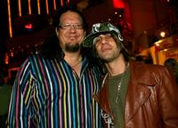 Penn Jillette and illusionist Criss Angel at the fourth anniversary party of Vegas Magazine on the closing night of the CineVegas film festival.