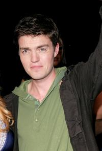 Tom Burke at the filming of