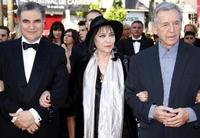 Serge Toubiana, Anna Karina and Costa-Gavras at the screening of