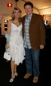 Julia Verdin and David Keith at the Mercedes-Benz Fashion Week.