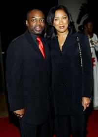Levar Burton and his wife Stephanie Cozart at the UNICEF Goodwill Gala: 50 Years of Celebrity Advocacy.