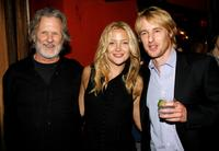 Kris Kristofferson, Kate Hudson and Owen Wilson at the after party for the premiere of the