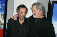 Kris Kristofferson and Harry Dean Stanton at the premiere of