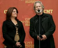 Kris Kristofferson and Rosanne Cash at the press room at the 2007 CMT Music Awards at the Curb Event Center at Belmont University.