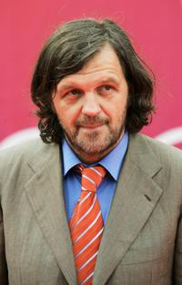 Emir Kusturica at the closing ceremony at the International Moscow Film Festival.