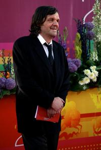 Emir Kusturica at the opening ceremony at the International Moscow Film Festival.