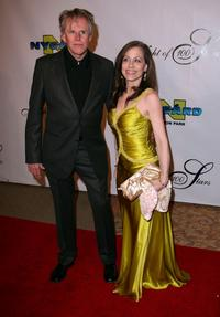 Gary Busey and Vicki Roberts at the 17th Annual Night Of 100 Stars Oscar Gala.