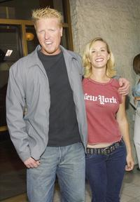 Jake Busey and Katee Pendergast at the premiere of