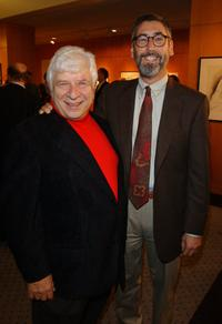 Elmer Bernstein and John Landis at the tribute in honor of Bernstein's 50th anniversary of work in music composition.