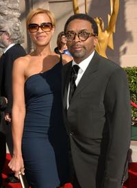 Spike Lee and guest at the Shrine Auditorium for the 2007 Creative Arts Emmy Awards.